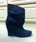 Vera Wang Lavender wedge boots